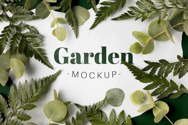 Bovenaanzicht tuin mock-up concept Gratis Psd