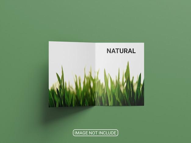 Bovenaanzicht tweevoudige brochure mockup geïsoleerd Premium Psd