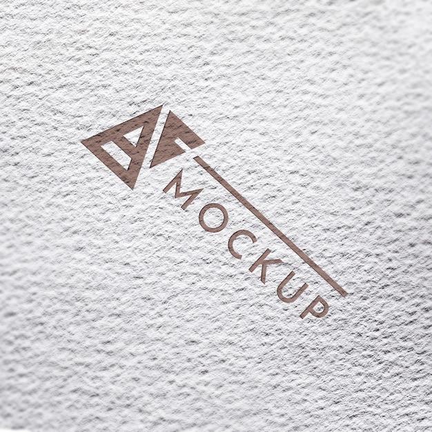 Bovenaanzicht van grof papier mock-up voor bedrijven Gratis Psd