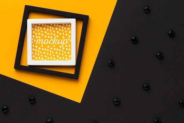 Bovenaanzicht van mock-up frames Gratis Psd