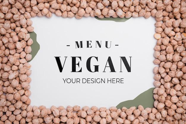 Bovenaanzicht veganistisch menu met kikkererwten concept Gratis Psd