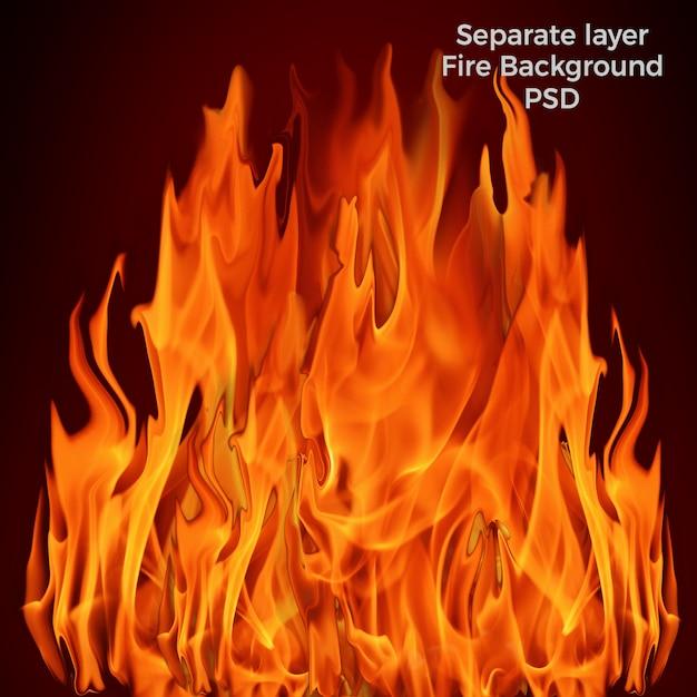 Brandende vlam achtergrond Premium Psd