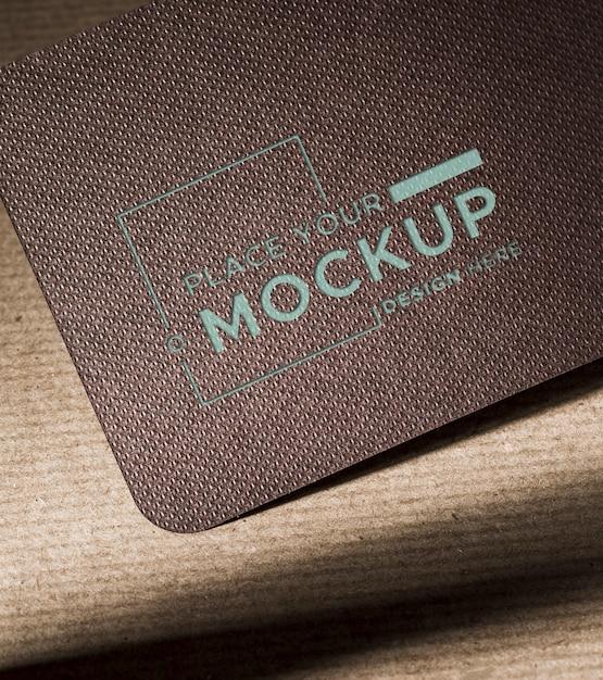 Branding identità biglietto da visita scuro mock-up Psd Gratuite