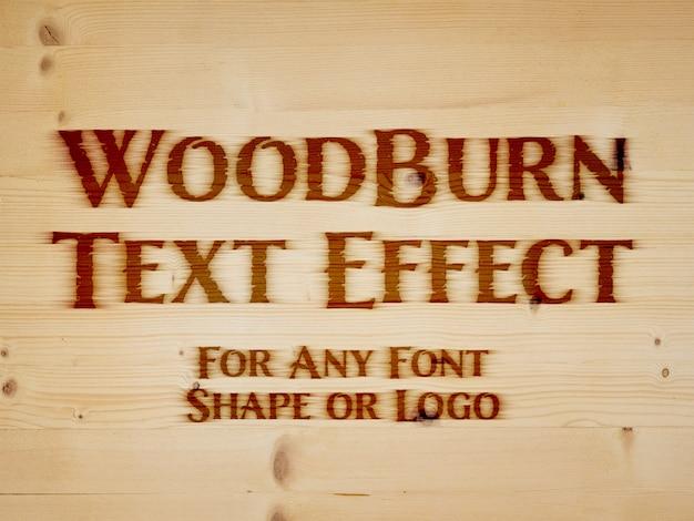 Branding iron text effect Premium Psd