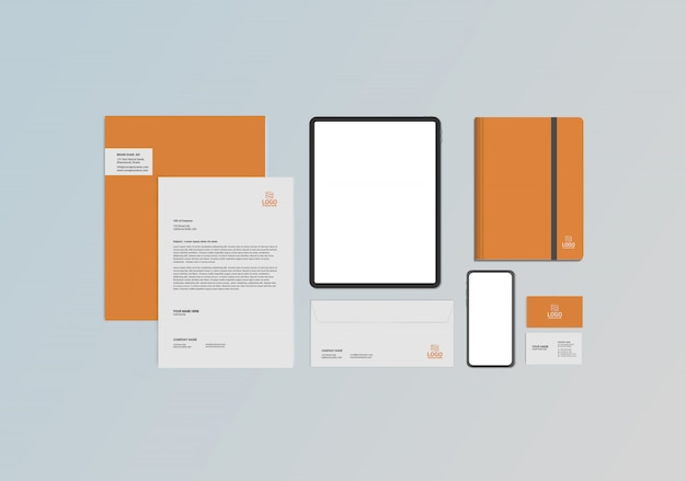 Briefpapier mock-up Premium Psd