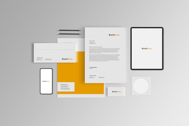 Briefpapier mock-up Premium Psd