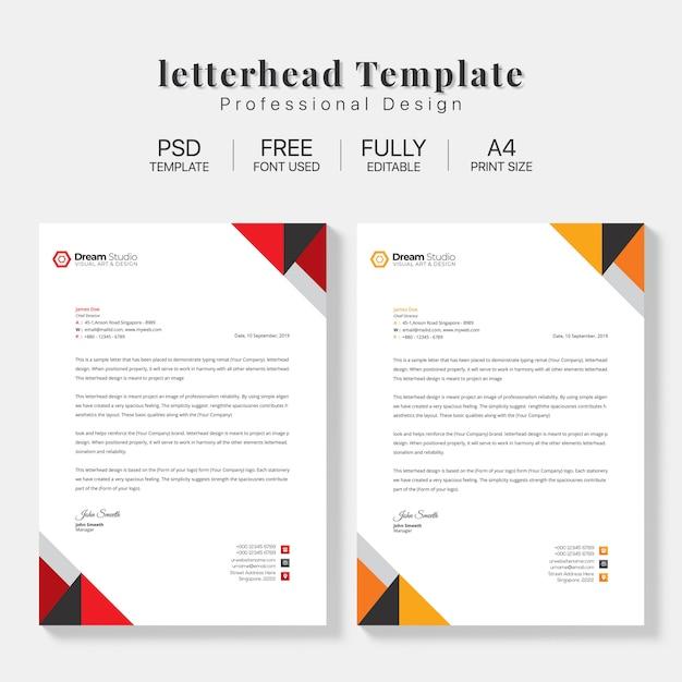 Briefpapier template set Gratis Psd