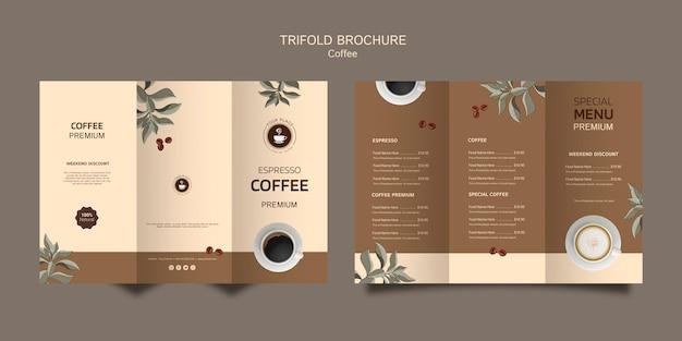 Brochure a tre ante caffè Psd Gratuite