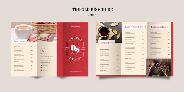 Brochure a tre deliziosi caffè Psd Gratuite