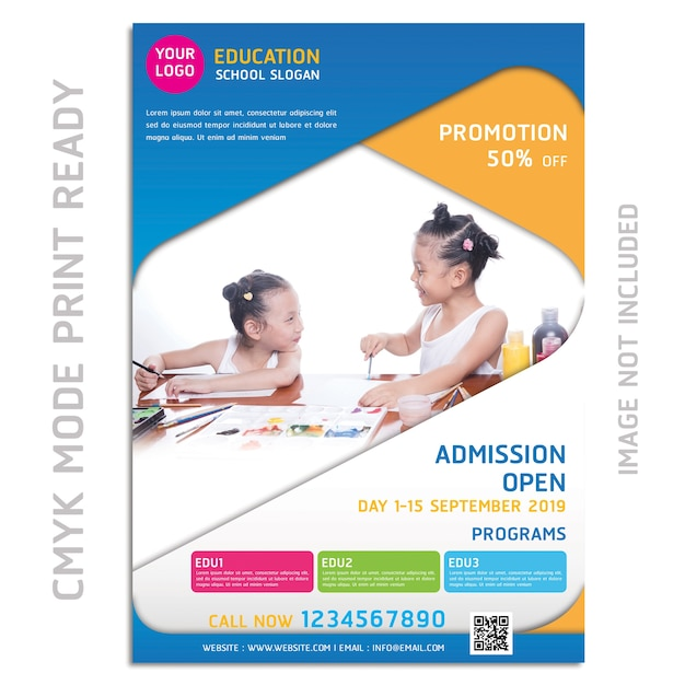 Brochure di educazione flyer design Psd Premium