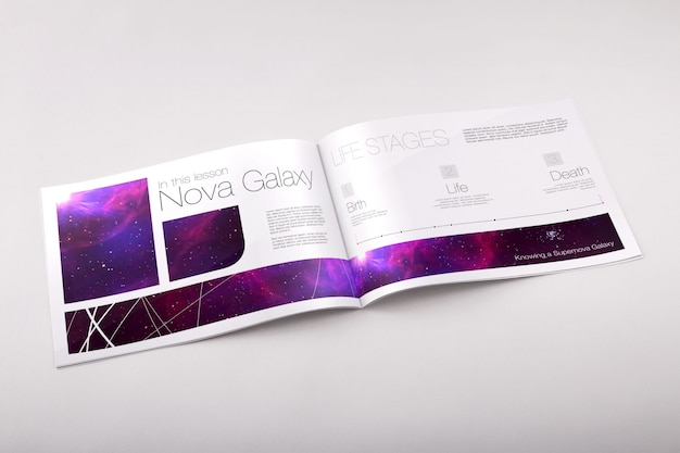 Brochure mock up di progettazione Psd Premium