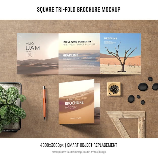 Brochure quadrata pieghevole Psd Gratuite