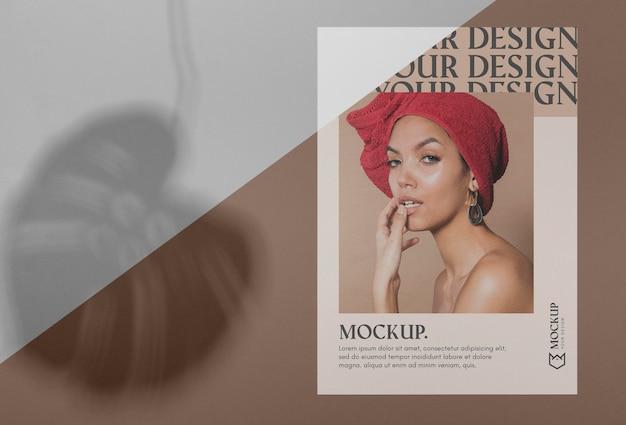 Brochure schaduw-overlay Gratis Psd