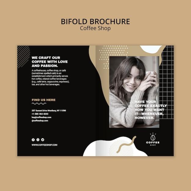 Brochure sjabloon concept voor coffeeshop Gratis Psd