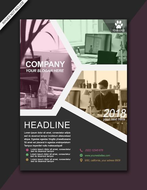 Brochure titolo opuscolo colorato moderno per affari - formato a3 Psd Premium