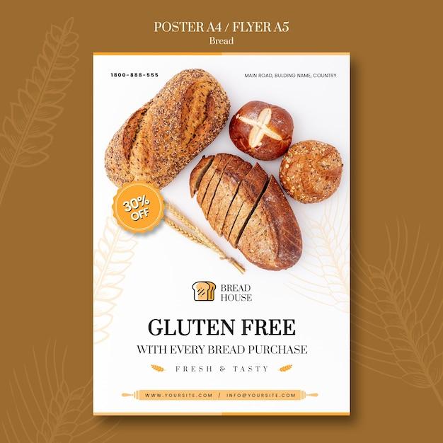 Brood concept flyer sjabloon Gratis Psd