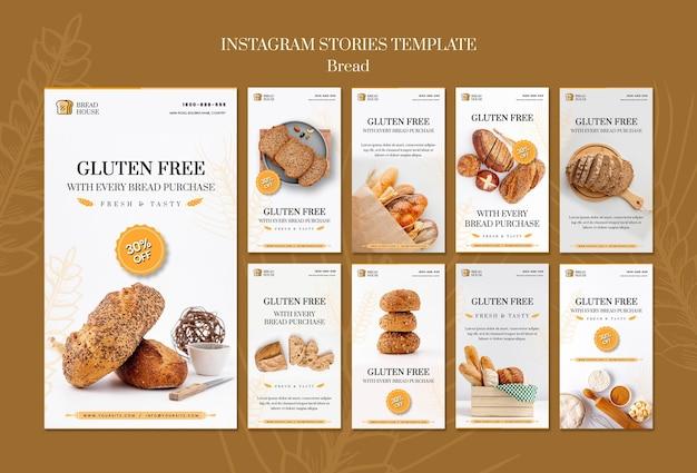 Brood concept instagram verhalen sjabloon Gratis Psd