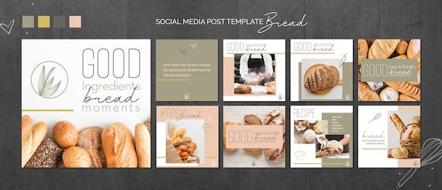 Brood concept sociale media postsjabloon Gratis Psd