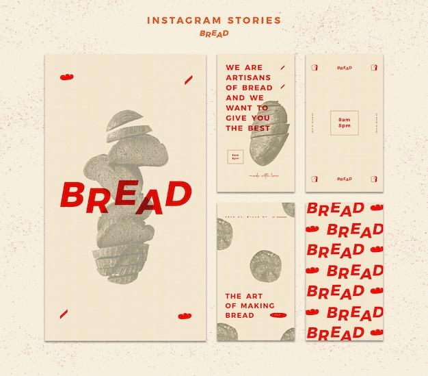 Brood instagramverhalen Gratis Psd