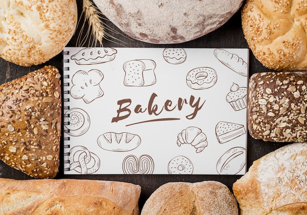 Brood zonder notitieboek Gratis Psd