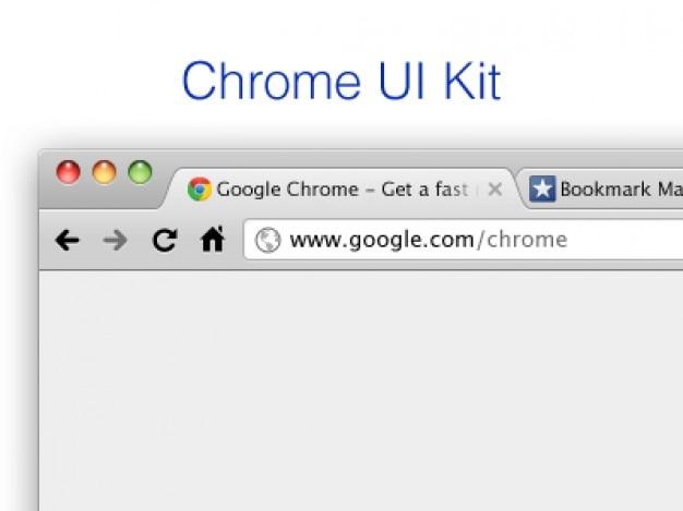 Browser template google chrome ui kit Gratis Psd
