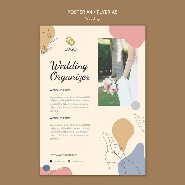Bruiloft poster sjabloon concept Gratis Psd
