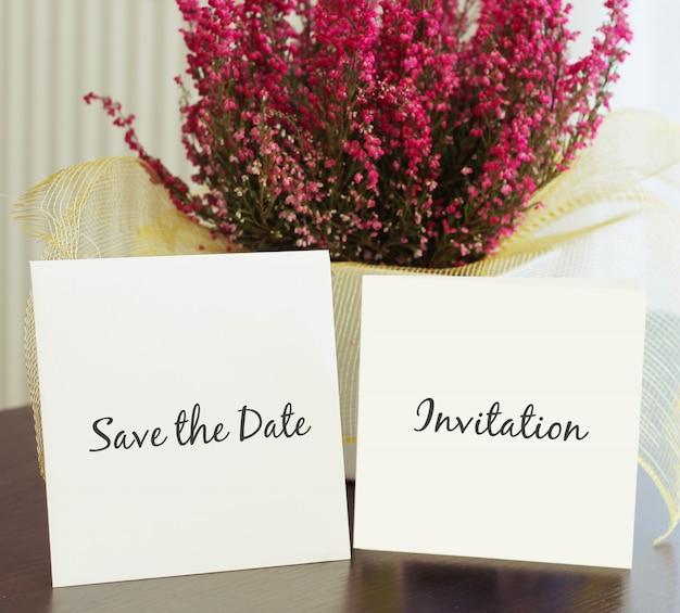 Bruiloft uitnodiging mockup Premium Psd