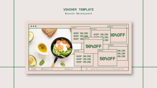 Brunch restaurant voucher sjabloon Gratis Psd