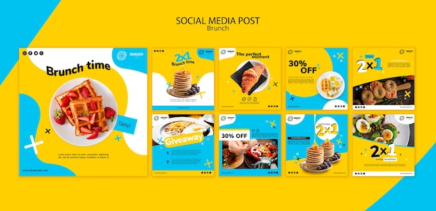 Brunch social media postsjabloon Premium Psd