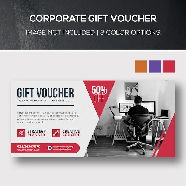 Buono regalo aziendale Psd Premium