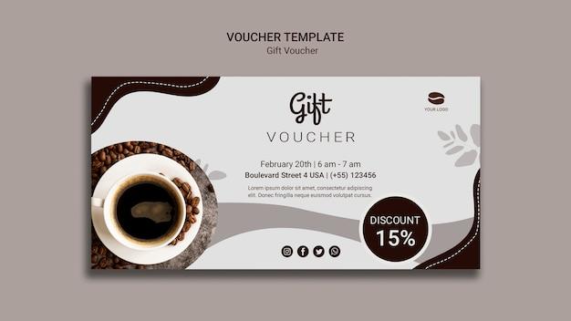 Buono regalo caffè con sconto Psd Gratuite