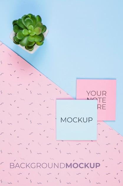 Bureau concept met mock-up Gratis Psd