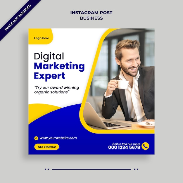 Business digitale marketing social media, instagram, banner web o modello di volantino quadrato Psd Premium
