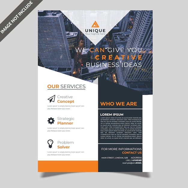 Business flyer design Premium Psd