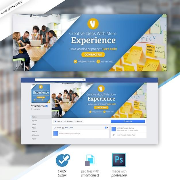 Business marketing facebook banner timeline copertura sociale Psd Premium