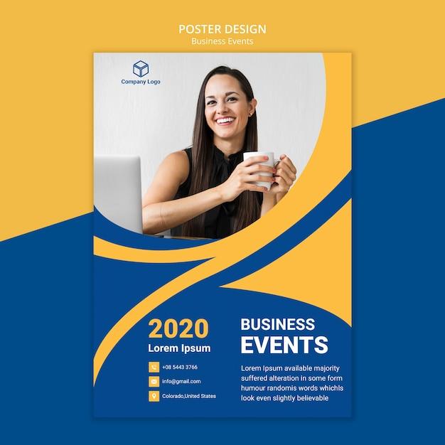 Business poster web sjabloon concept Gratis Psd