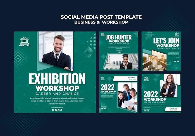 Business & workshop social media post Gratis Psd