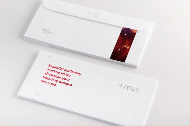 Busta mock up di progettazione Psd Premium