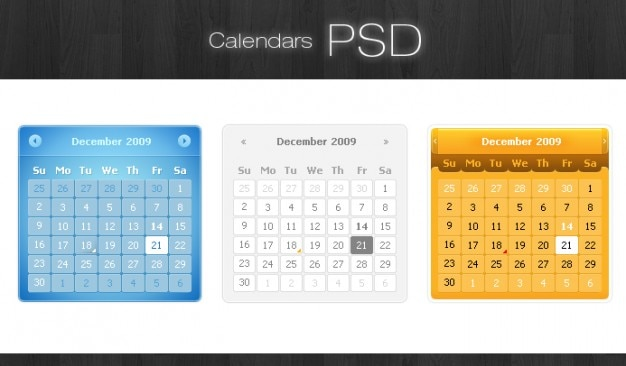Calendari psd Psd Gratuite