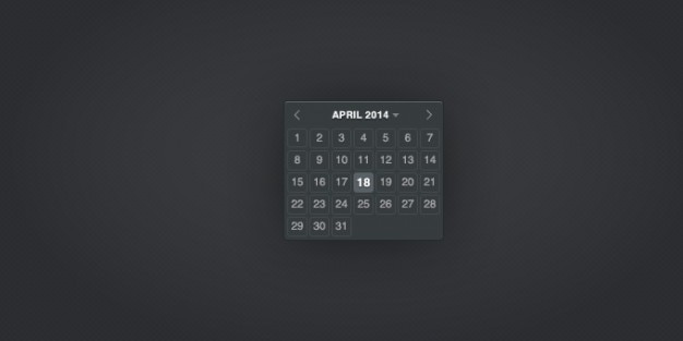 Calendario datepicker Psd Gratuite