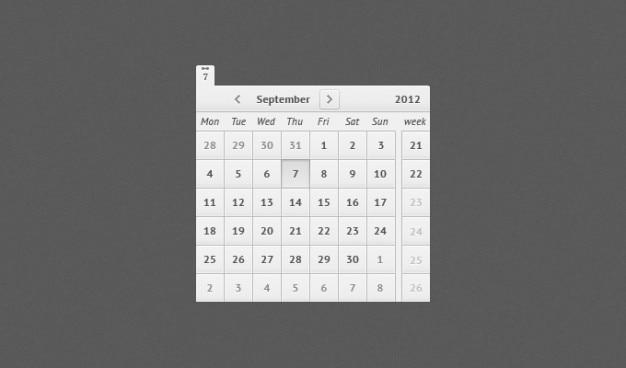 Calendario psd Psd Gratuite