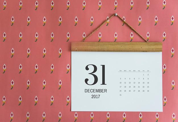 Calendario sul muro Psd Gratuite