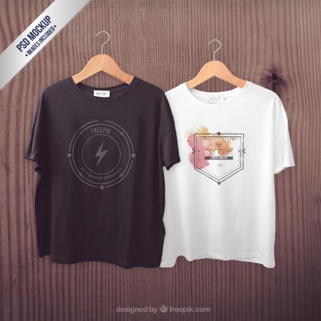 Camisetas maqueta PSD gratuito