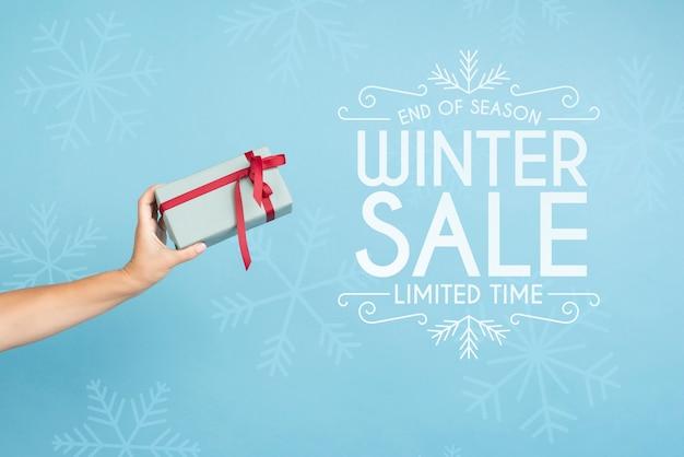 Campaña de marketing de rebajas de invierno PSD gratuito