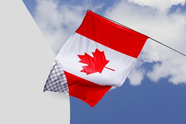Canada vlag concept mock-up Gratis Psd