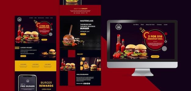 Cancelleria americana di design alimentare Psd Gratuite