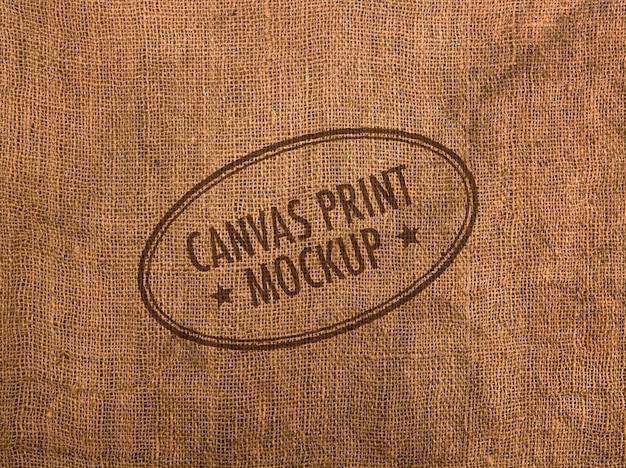 Canvas logo mockup Premium Psd