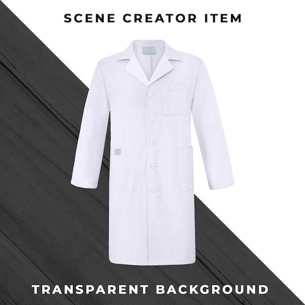 Cappotto medico isolato con il percorso di ritaglio Psd Premium