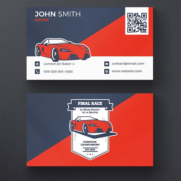 Car racing visitekaartje Gratis Psd