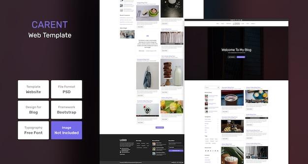 Carent blog websjabloon Premium Psd